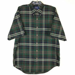 Pendleton Short Sleeve Plaid Mens Medium.